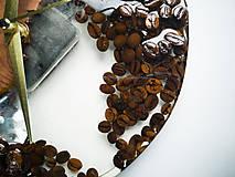 Hodiny - Coffee Time 3 - Živicové drevené hodiny - 11065549_