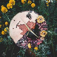 Hodiny - Sunny Garden - Živicové drevené hodiny - 11065535_