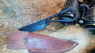 Nože - Stredoveký kovaný nôž - 11063657_