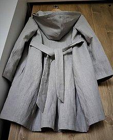 Kabáty - ľanový kabát - 11065467_