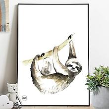 Detské doplnky - Art Print - leňochod - 11065450_