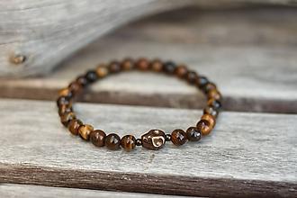 Šperky - Pánsky náramok z minerálu tigrie oko - 11062453_