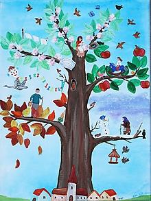Obrazy - Strom ľudského žitia 30x40 cm - 11063577_