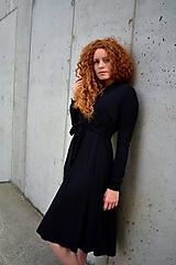 Šaty - APRIL černé, zavinovací šaty/cardigan - 11068169_