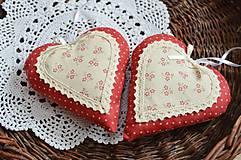 Dekorácie - Romantické veľké srdiečka - 11065945_
