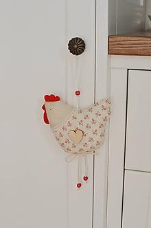 Dekorácie - Romantická sliepočka - 11065936_