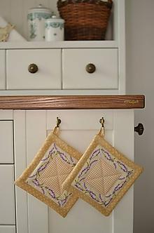 Úžitkový textil - Chňapky s levanduľou - 11066066_