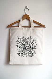 Nákupné tašky - Nákupná taška bavlnená s krátkymi uškami - Listy - 11065896_