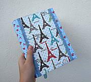 Papiernictvo - Paríž II...uni obal na knihu - 11066691_