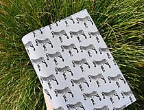 Papiernictvo - Zebry...uni obal na knihu - 11066758_