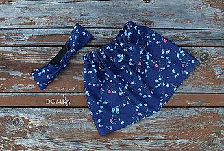 Detské oblečenie - Bavlnená dievčenská suknička (sukňa + čelenka na gumu) - 11067004_
