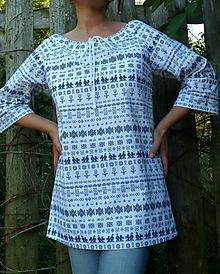 Košele - Košeľa dámska Čičmany mini - 11067725_