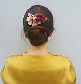 """Ozdoby do vlasov - Kvetinový hrebienok """"Vintage"""" - 11068448_"""