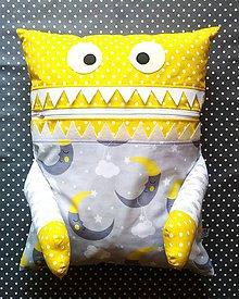 Textil - Pyžamožrút mesiačik - žltý - 11068875_