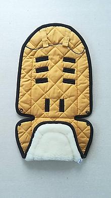 Textil - Joolz HUB Seat Liner / Podložka do kočíka horčicová na mieru MUSTARD and NERO - 11067429_
