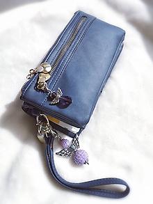 Iné šperky - Veľký shamballa anjel  (Fialová) - 11066644_