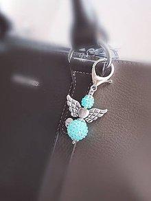 Iné šperky - Veľký shamballa anjel  (Mentolová) - 11066646_