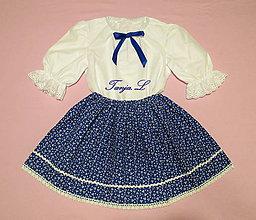 Detské oblečenie - krojová košeľa dievčenská veľkosť 98-140 - 11068436_