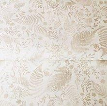 Textil - zlaté papradie, 100 % bavlna Francúzsko, šírka 150 cm - 11066148_