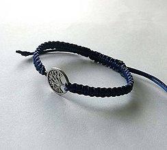 Náramky - So stromom života (modrá tmavá) - 11069045_