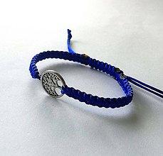 Náramky - So stromom života (modrá) - 11069048_