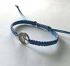 Náramky - So stromom života (modrá svetlá) - 11069050_