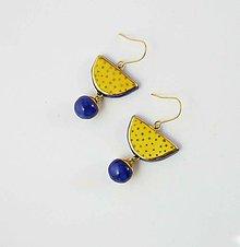 Náušnice - Tana šperky - keramika/zlato - 11065908_