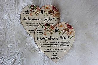 Darčeky pre svadobčanov - Magnetka ako poďakovanie pre rodičov - 11068669_