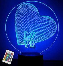 Dekorácie - Gravírovaná LED lampa HRT2 - 11065810_