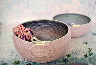 Košíky - Košík/ miska s nádechem růžové 326 - 11068321_
