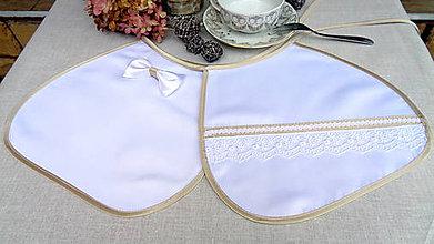 Iné doplnky - Svadobné elegantné podbradníky zlato biele - 11067354_