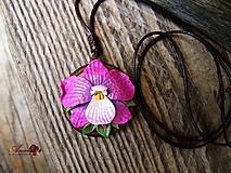 Náhrdelníky - Náhrdelník Orchidea - 11066051_