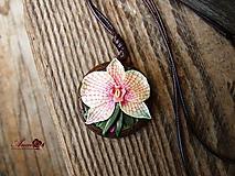 Náhrdelníky - Náhrdelník Orchidea - 11066059_