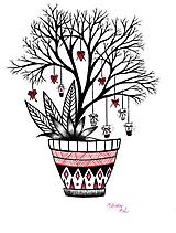 Kresby - Láska kvitne na stromoch - 11065620_