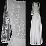 Šaty - Svadobné šaty z lúčnej krajky - 11067927_