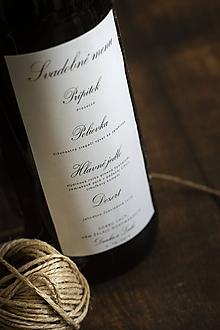 Papiernictvo - Svadobné menu ako etiketa na fľašu - 11067551_
