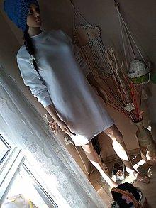 Šaty - Biele teplé i jesenné šatky. - 11068997_