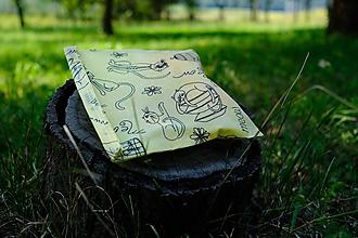 Úžitkový textil - Voskované vrecko Vreckáč 17x17cm (tousťák) (Mačkoš) - 11066134_