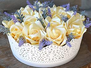 Dekorácie - Saténové ruže v dóze - 11067866_