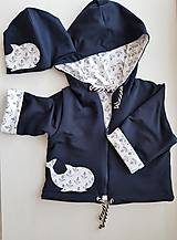 Detské oblečenie - Kosatka Sandra (bunda + čiapka) - 11069081_