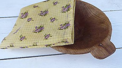 Úžitkový textil - desiatové voskované vrecko-ruže - 11068155_