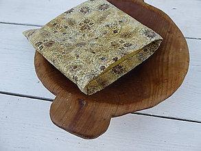 Úžitkový textil - desiatové voskované vrecko-hnedé - 11068201_