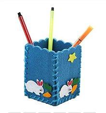 Iný materiál - Kreatívna sada - uši si stojan na ceruzky, 1 sada - 11068550_