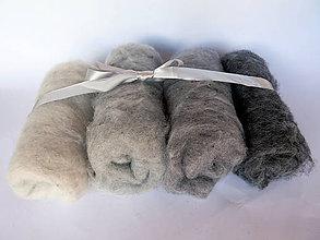 Textil - Sada svetlá sivá melír, 100 g - 11066480_
