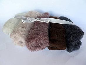 Textil - Sada hnedo-šedá 100 g - 11066508_