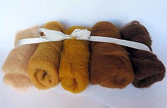 Textil - Sada hnedo-zlatá, 100 g - 11066512_