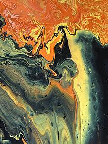Obrazy - Žltý vodopád - 11068268_