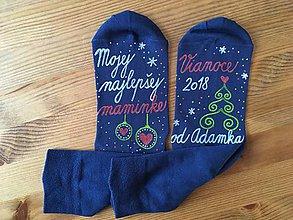 """Obuv - Maľované vianočné s nápisom: """"Mojej najlepšej maminke..."""" alebo na želanie - 11065970_"""