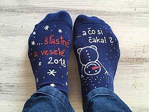 """Obuv - Maľované vianočné ponožky s nápisom: """"A čo si čakal?..."""" alebo na želanie - 11066074_"""