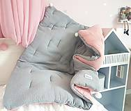Textil - Luxusný mušelínový paplón do postielky 110x95cm - 11070882_